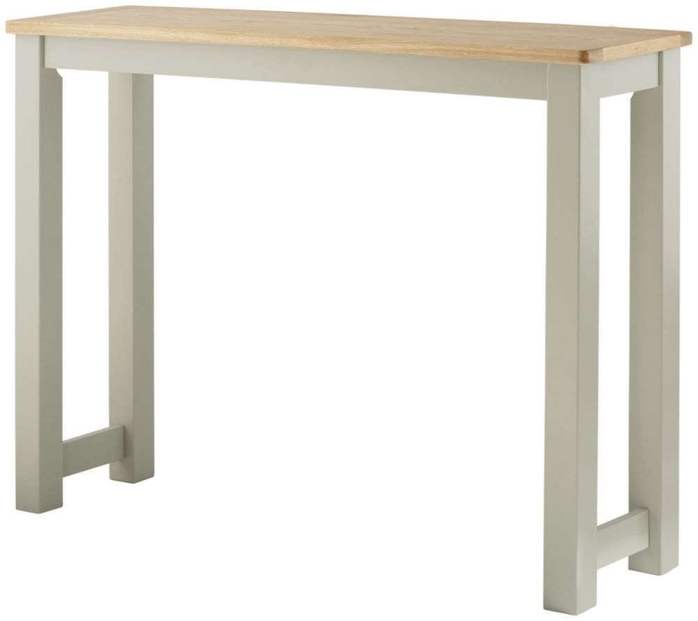 Stratton Breakfast Bar in Stone and Oak