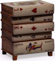 Antiqued Stacked Playing Card Chest