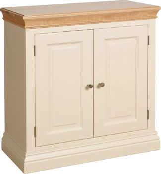 Lundel Cupboard 2 Door Ivory & Oak