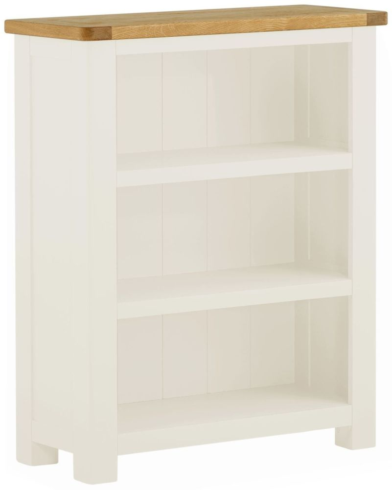 Stratton White Bookcase Small Height 870 Width 700 Depth 300