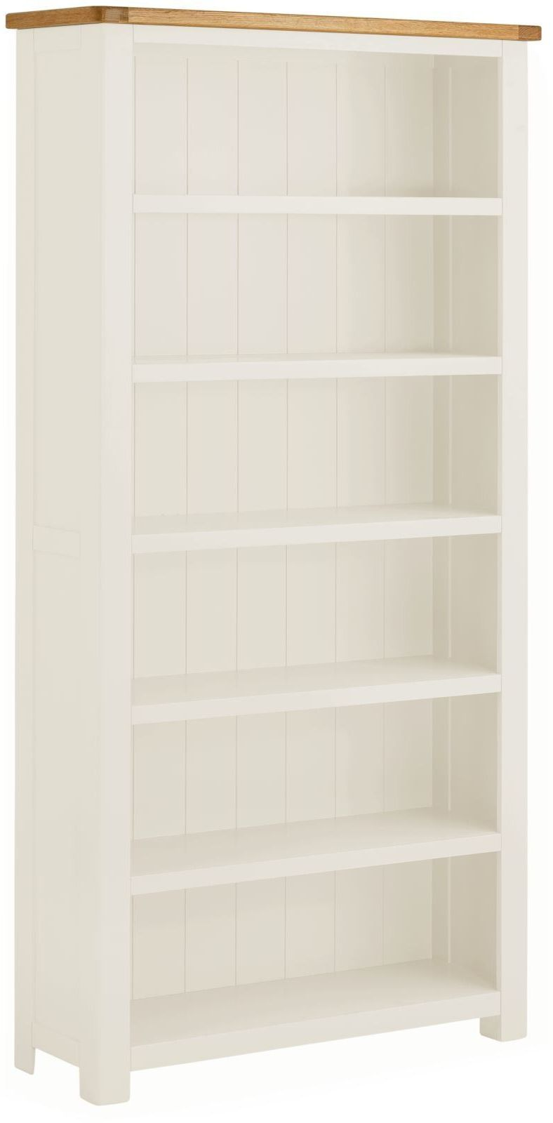 Stratton White Bookcase Large