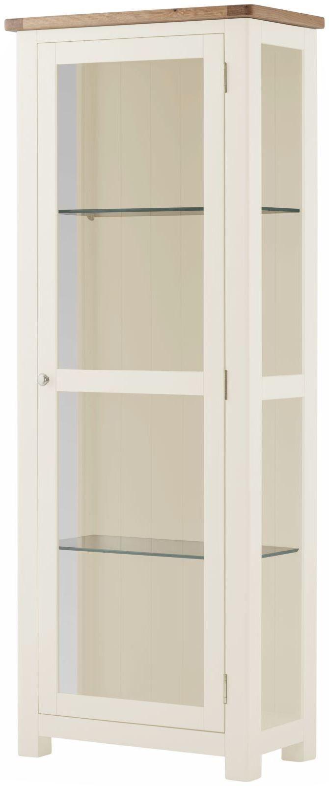 Stratton White Display Cabinet Height 1700 Width 650 Depth 350