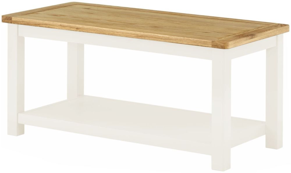 Stratton White Coffee Table Height 480 Width 1000 Depth 500