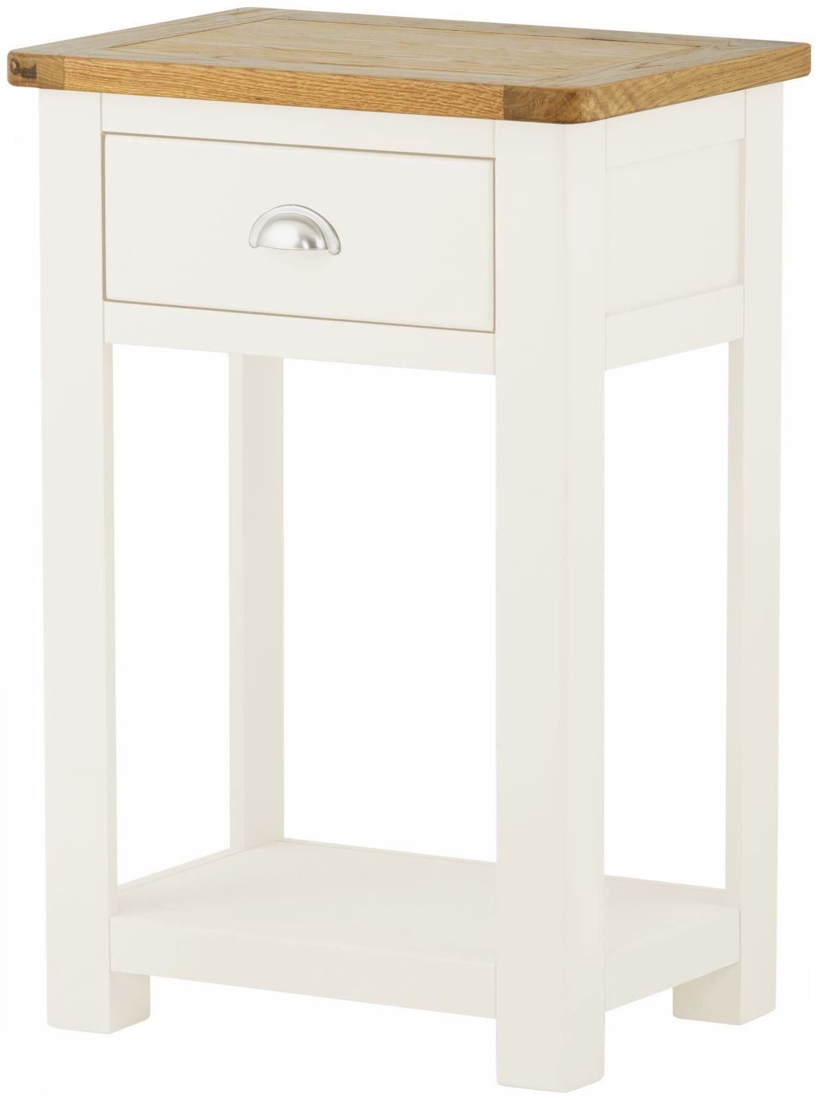 Stratton White Hall Table Height 750 Width 500 Depth 350
