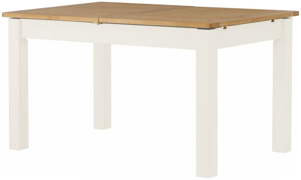 Stratton White Dining Table Extending Height 780 Width 1400-1800 Depth 350