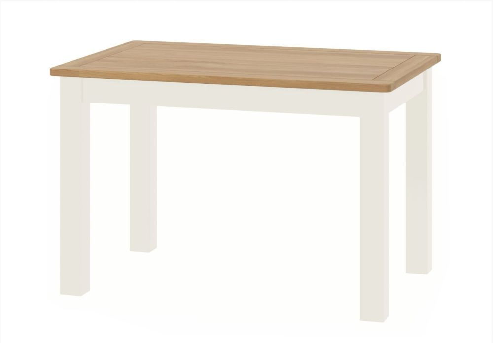Stratton White Dining Table Height 780 Width 1200 Depth 800