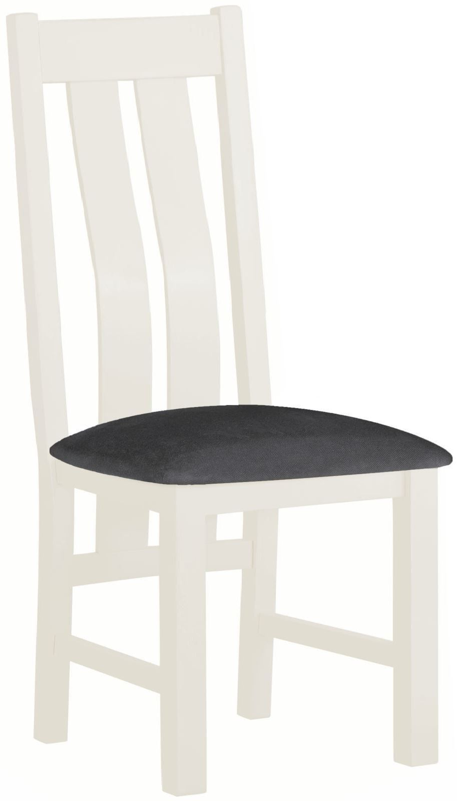 Stratton White Dining Chair  Height 1010 Width 440 Depth 530