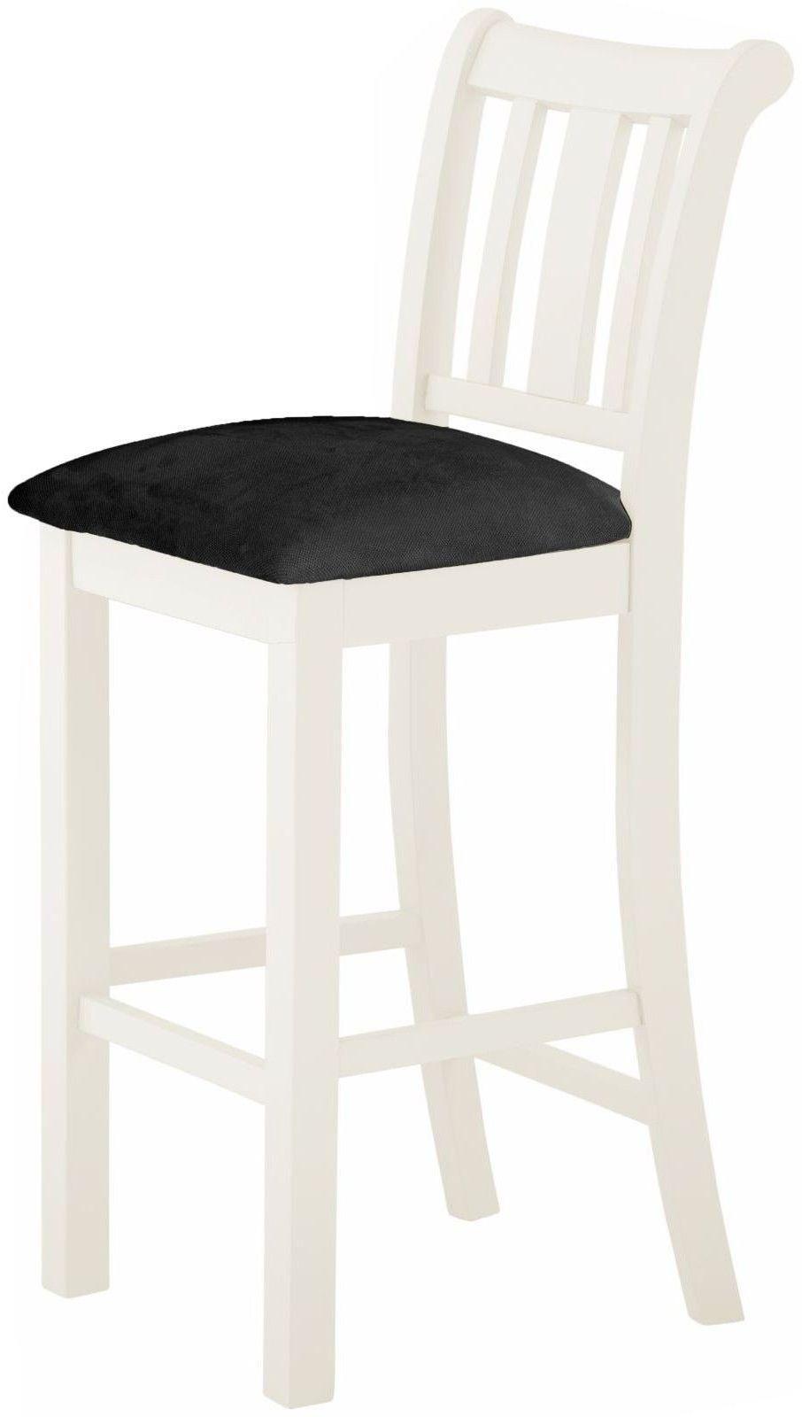Stratton White Bar Chair Height 1100 Width 440 Depth 500