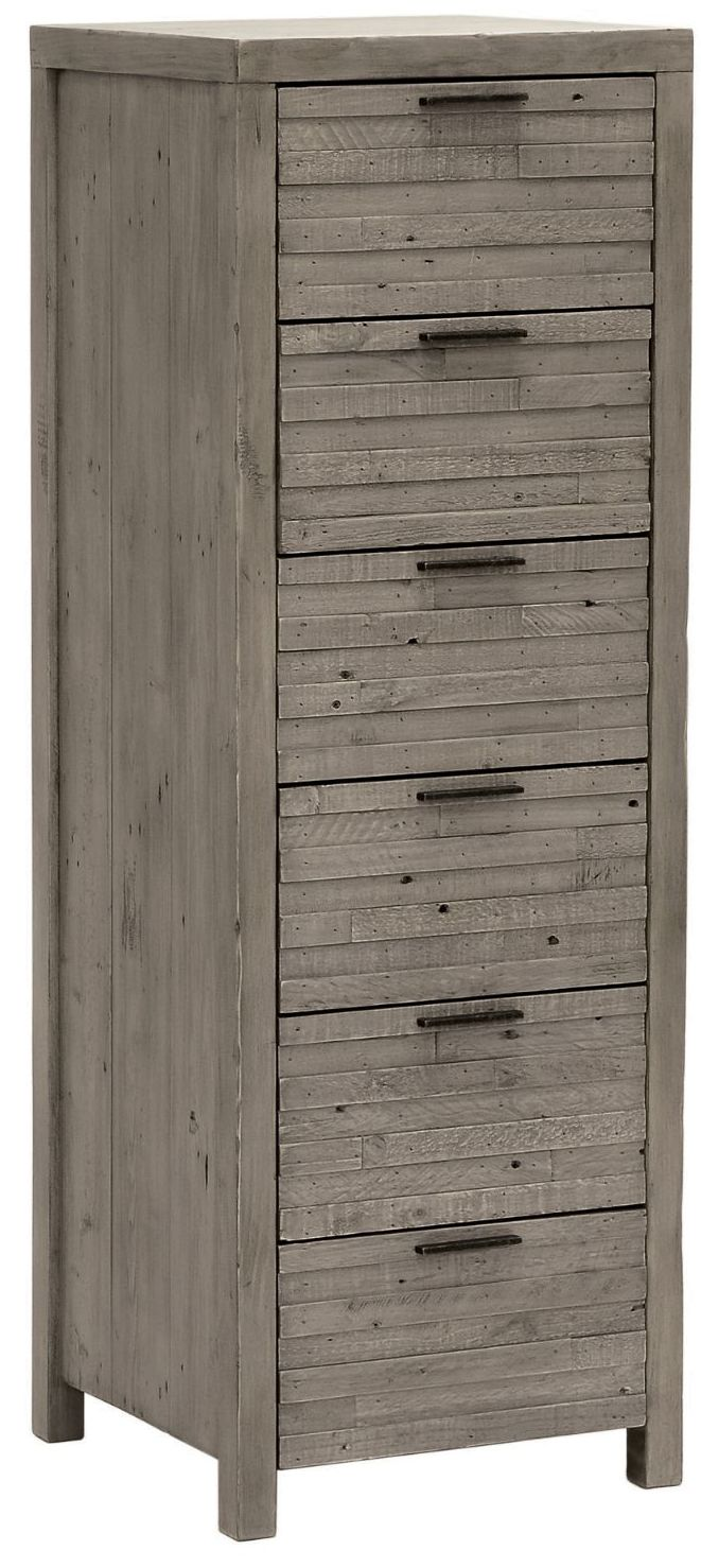 Arizona Chest 6 Drawer Tall H115cm W 57.5cm D35cm