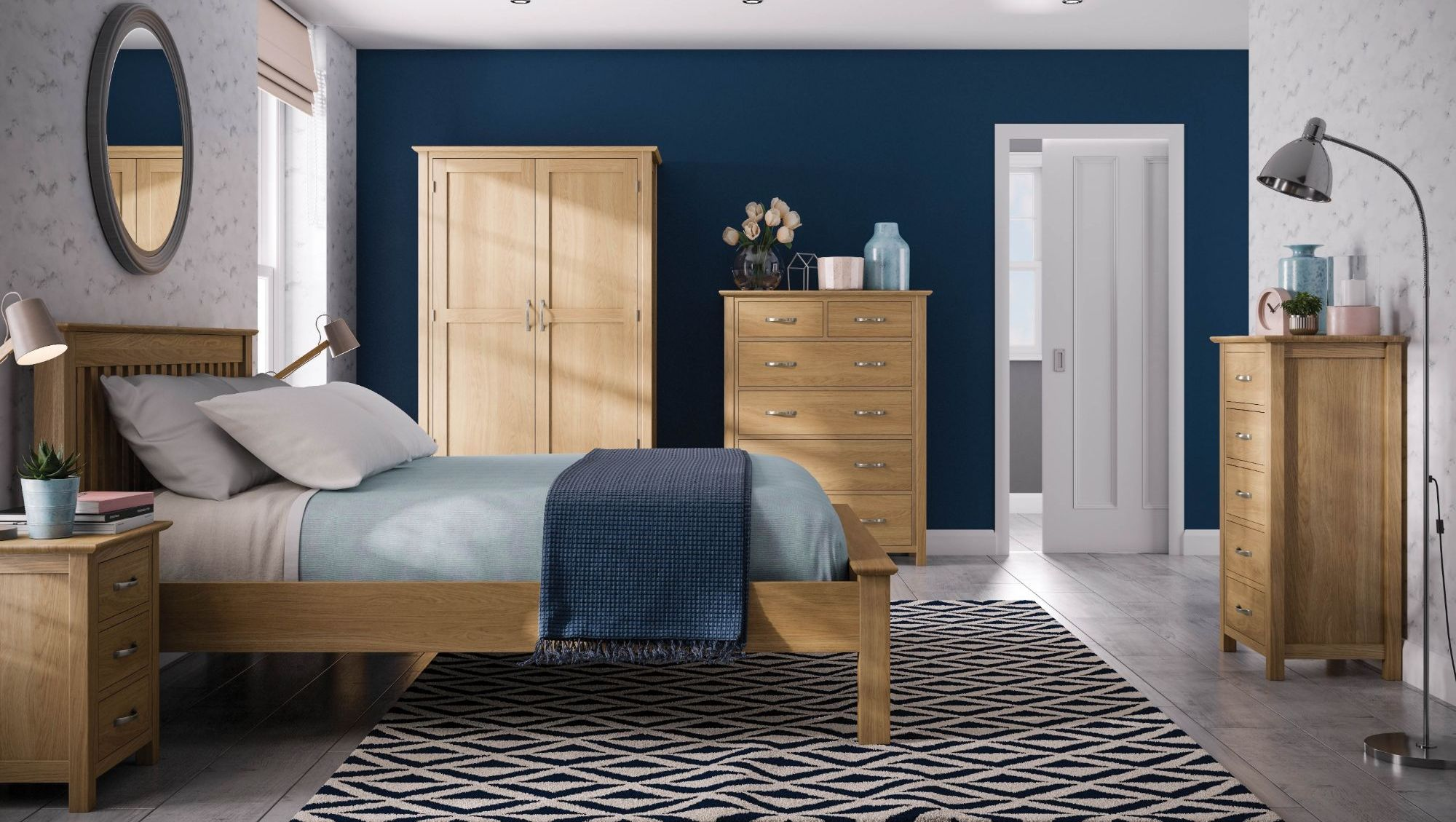 Katharine Solid Oak Bedroom Furniture