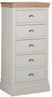 Amelia Chest Wellington 5 Drawer Truffle & Oak
