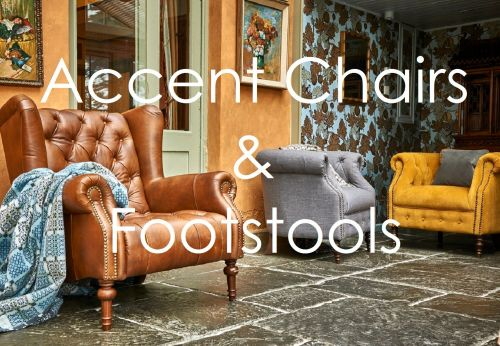 accent chairs and footstool