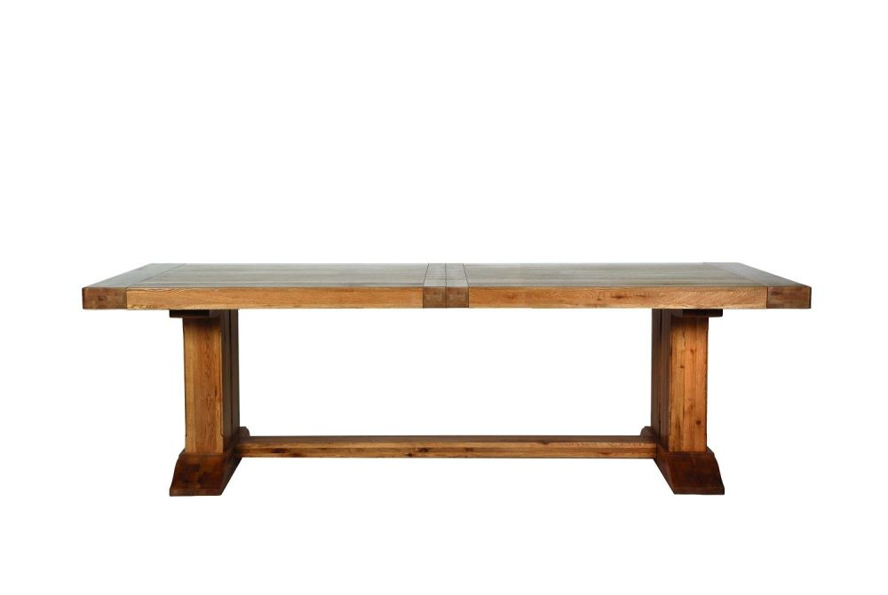 Monastery Table Extending Oak 250cm Extends to  390cm or 330cm Leafs Store