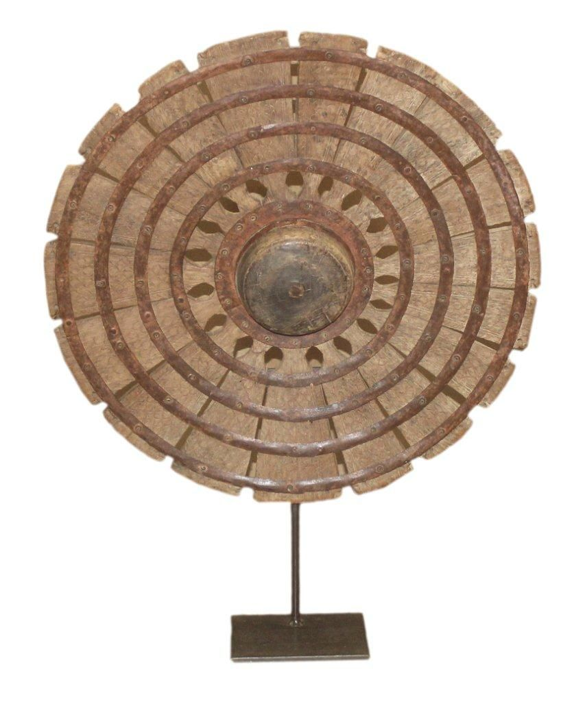 Old Charkha spinning wheel on a Stand