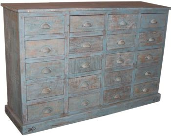 20 Drawer Chest Antique Grey