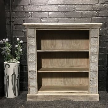 Print Block Large Bookcase Grey