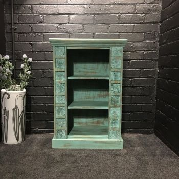 Print Block Small Bookcase Green