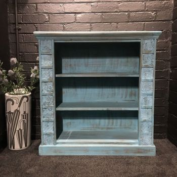 Print Block Large Bookcase Blue