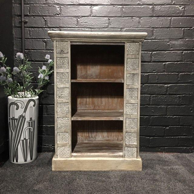 Print Block Small Bookcase Grey
