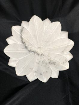 Marble Lotus Flower Bowl Hand Carved