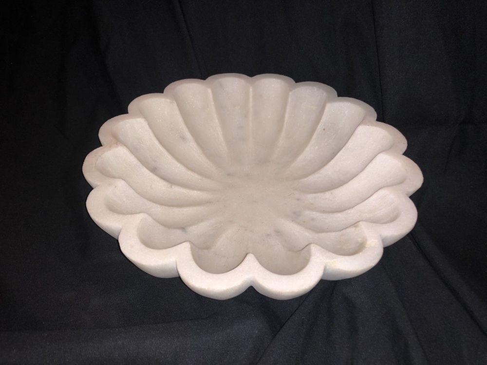 Marble bowl H7cm W30cm D30cm