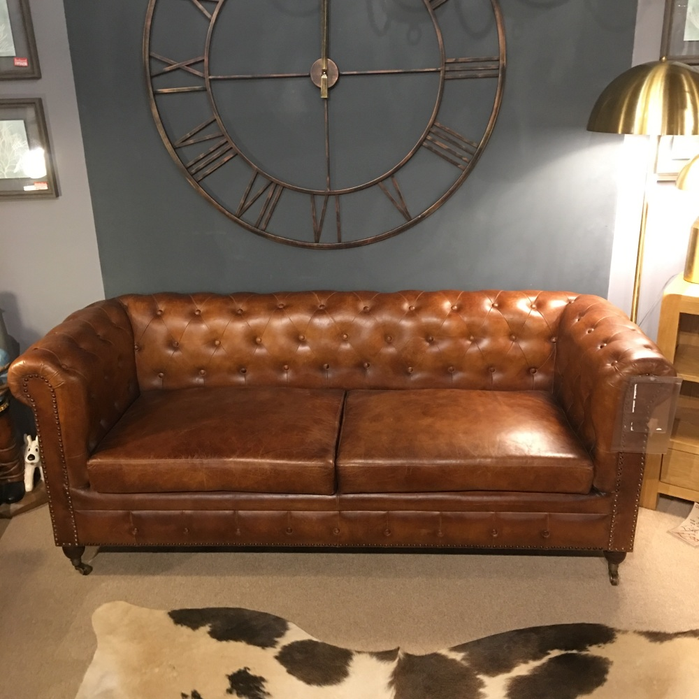Kingsway Leather Chesterfield Sofa