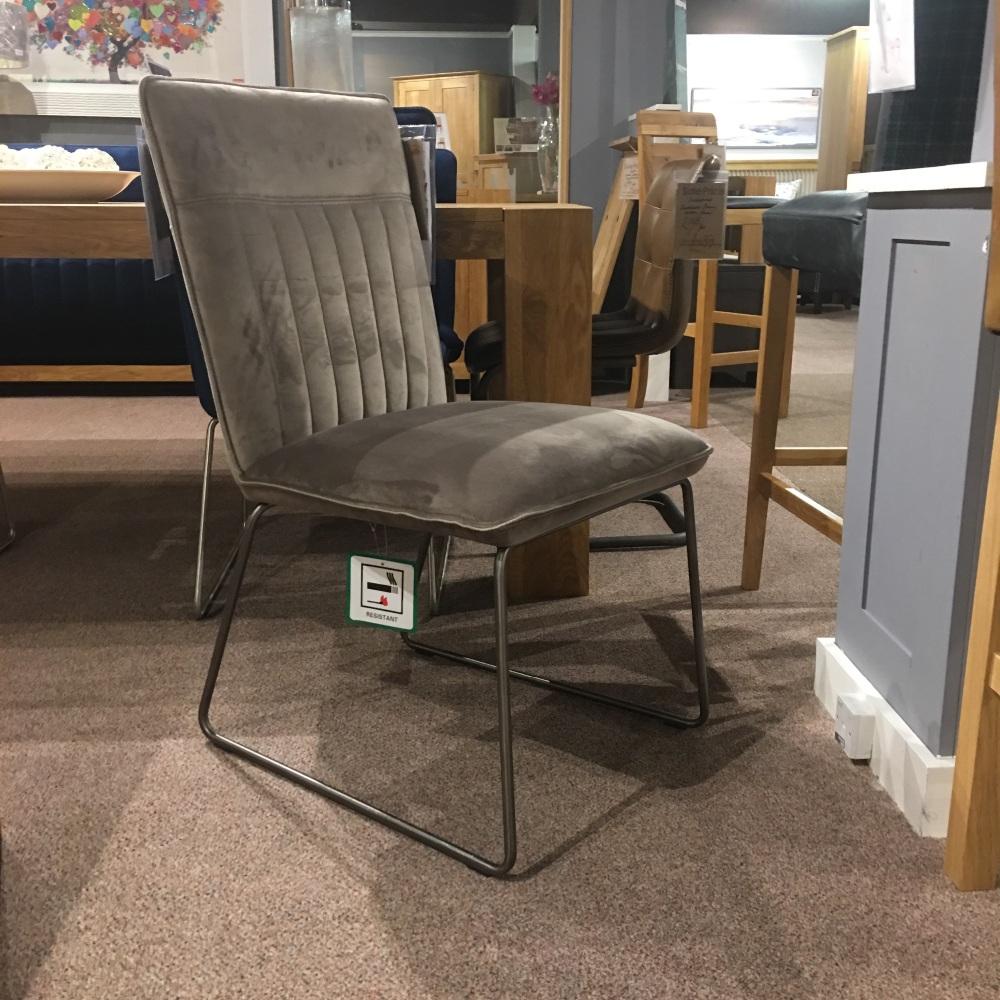 Cooper Dining Chair Grey Velvet