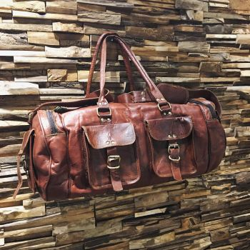 Leather large Duffle Bag