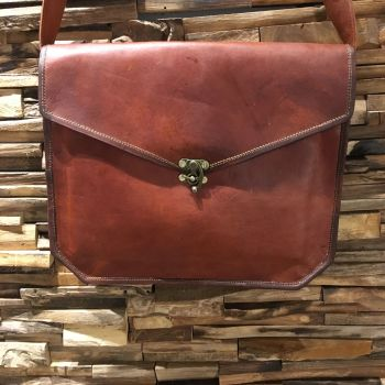 Leather Shoulder Strap Laptop Bag