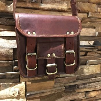 Leather Cross Body Satchel