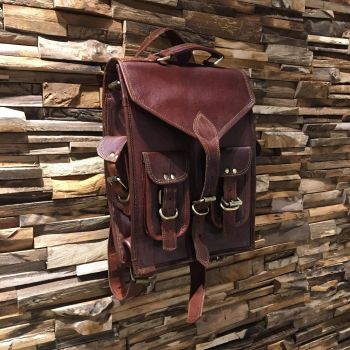 Leather Satchel Rucksack