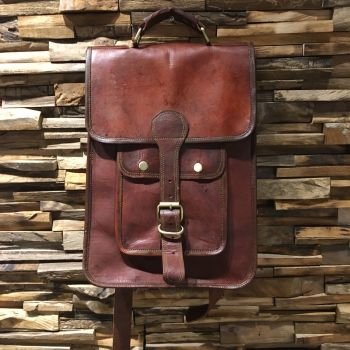 Leather Small Buckle Cross Body/Rucksack Bag