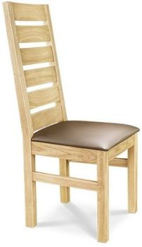European Oak Dining Chair 6 Ladder Back