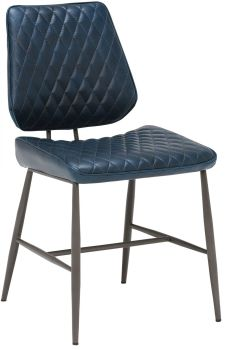 Alexa Dining Chair Dark Blue