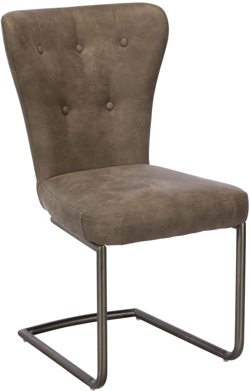 Oscar Dining Chair Grey & Red Brown
