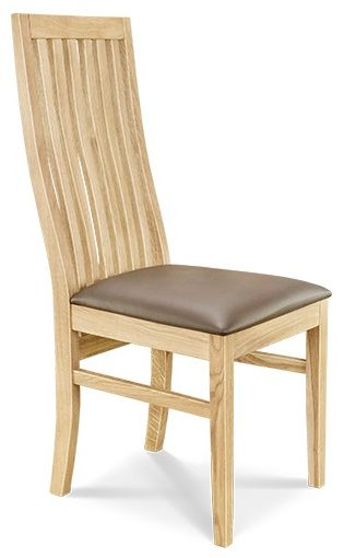 Dining Chair 2 Leather Seat  European Oak