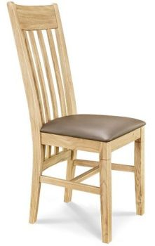 European Oak Dining Chair 6 Slat Back