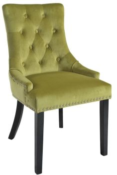 Christine Chair Lime with Black Legs