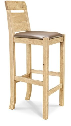 Driftwood Bar Stool Leather/Oak European