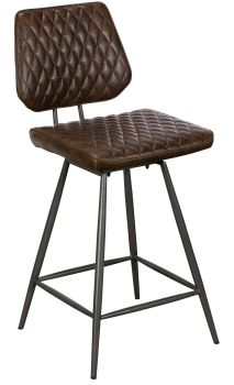 Alexa Bar Stool Dark Brown