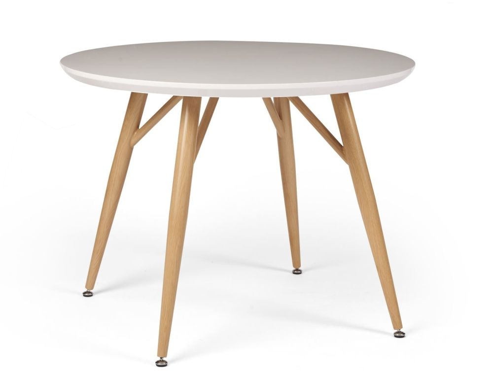 Contemporary Dining  Round Table White
