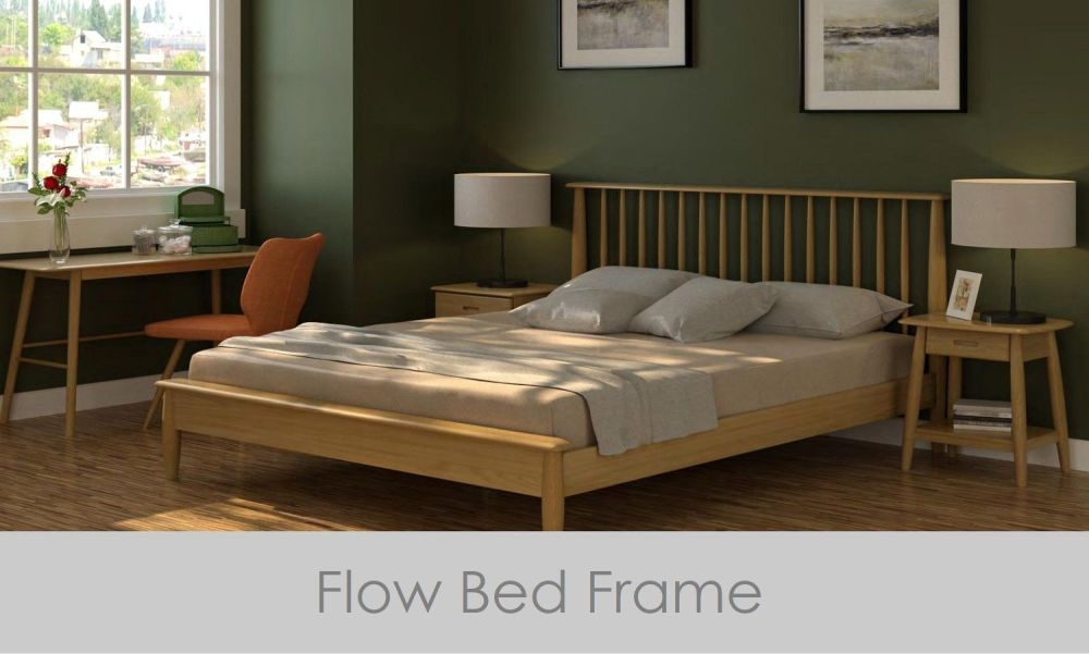 Flow Bed King Size Frame Oak