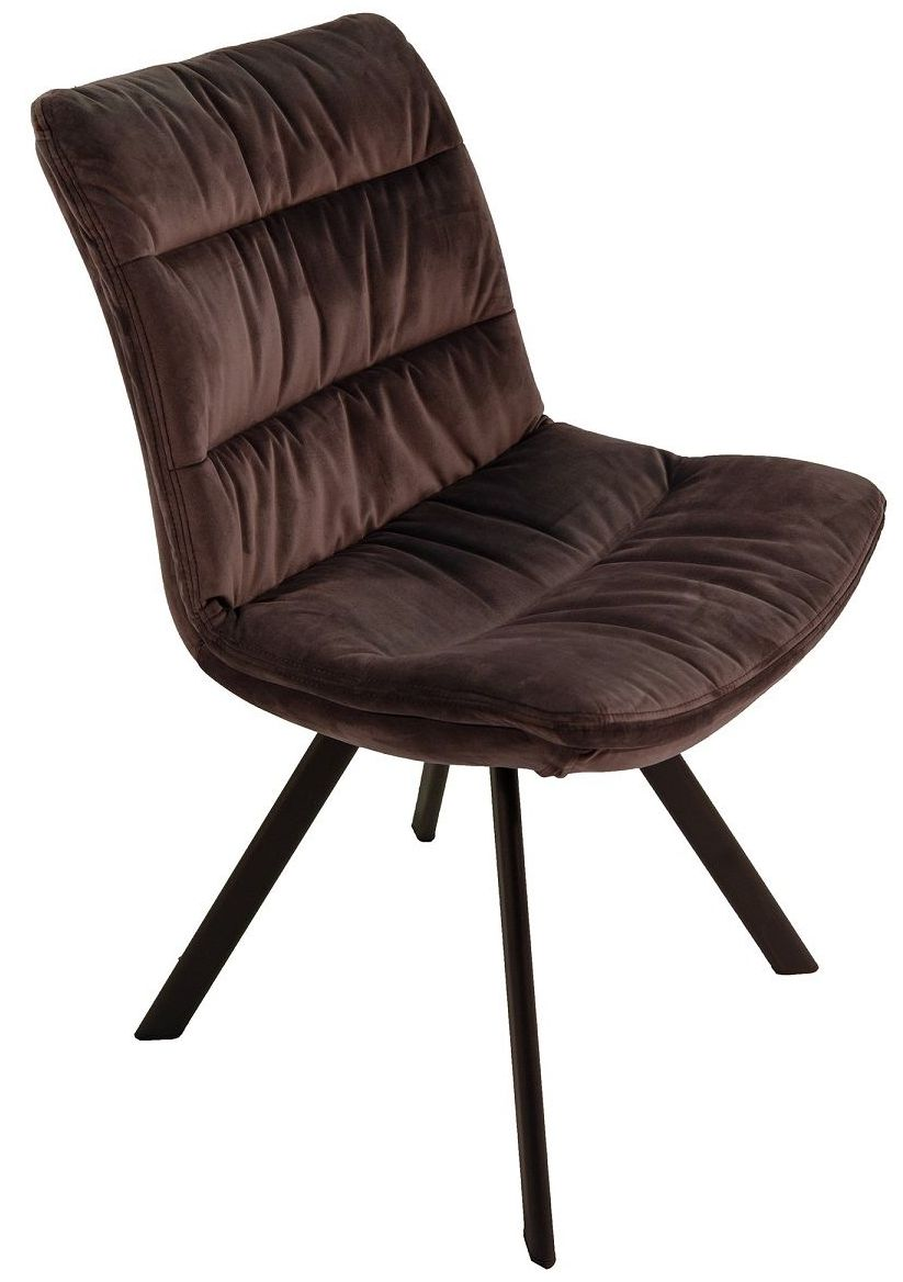 Leah Dining Chair in Charcoal Velvet