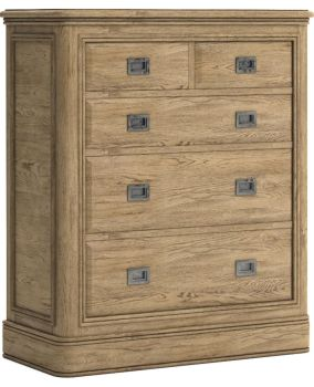Chamonix Oak Chest of Drawers 2 over 3