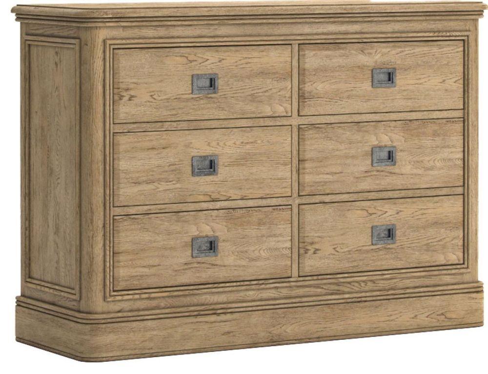 Chamonix Oak Chest of Drawers 3+3