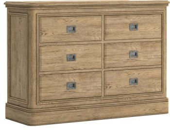 Chamonix Oak Chest of Drawers 3+3