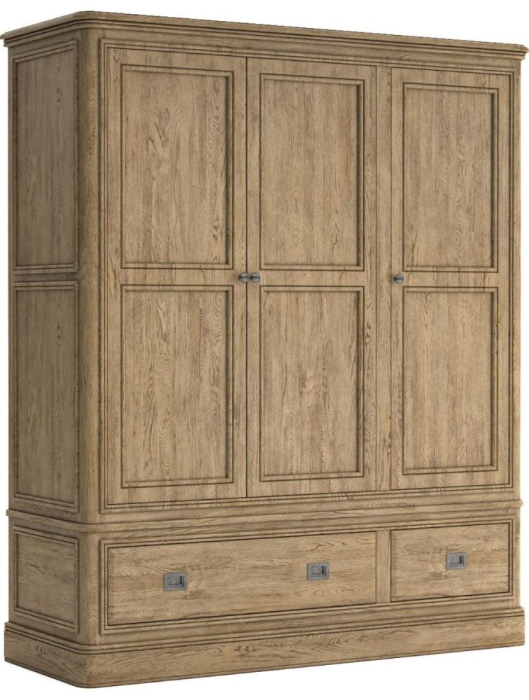 Chamonix Oak Wardrobe Triple