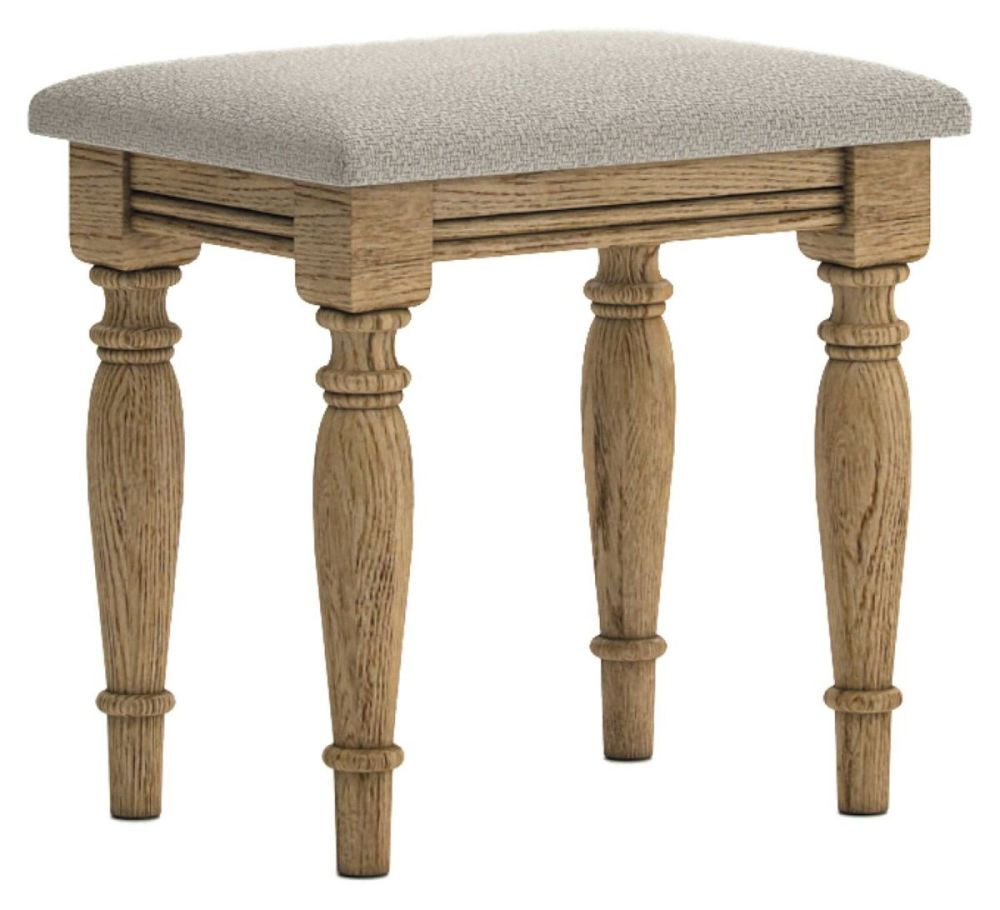 Chamonix Oak Dressing Table Stool