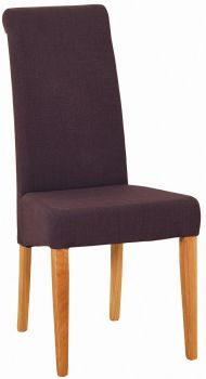 Walter Dining Chair in Mauve Fabric