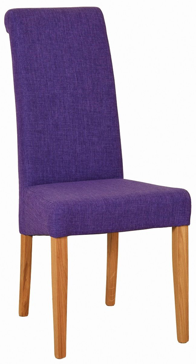 Walter Dining Chair in purple Fabric